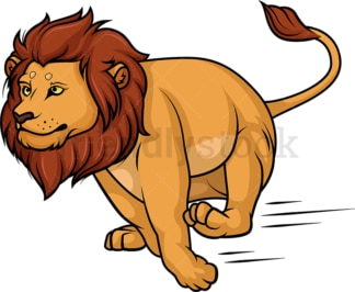 Lion running. PNG - JPG and vector EPS (infinitely scalable).