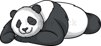 Panda bear sleeping. PNG - JPG and vector EPS (infinitely scalable).