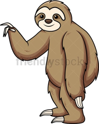 Sloth pointing to the side. PNG - JPG and vector EPS (infinitely scalable).