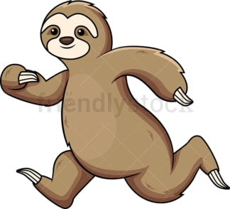 Sloth running. PNG - JPG and vector EPS (infinitely scalable).