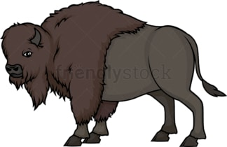 Wild buffalo. PNG - JPG and vector EPS (infinitely scalable).