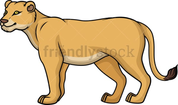 Female lion. PNG - JPG and vector EPS (infinitely scalable).