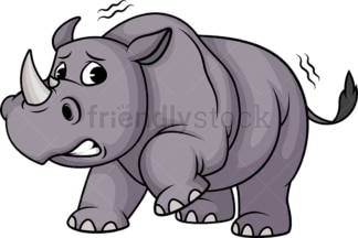 Scared rhino. PNG - JPG and vector EPS (infinitely scalable).