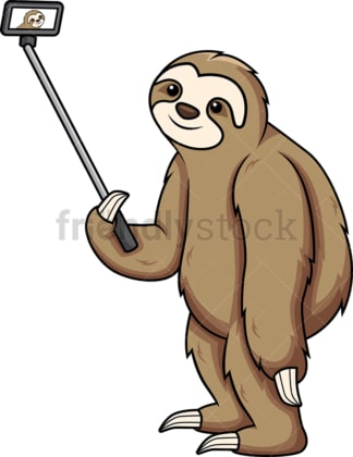 Sloth taking a selfie. PNG - JPG and vector EPS (infinitely scalable).