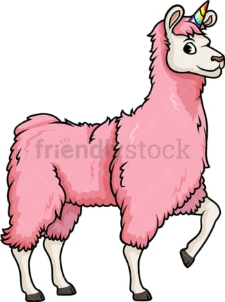 Unicorn llama. PNG - JPG and vector EPS (infinitely scalable).