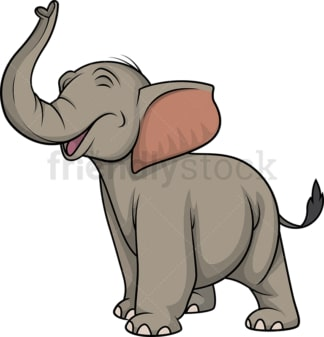 Elephant making noise. PNG - JPG and vector EPS (infinitely scalable).