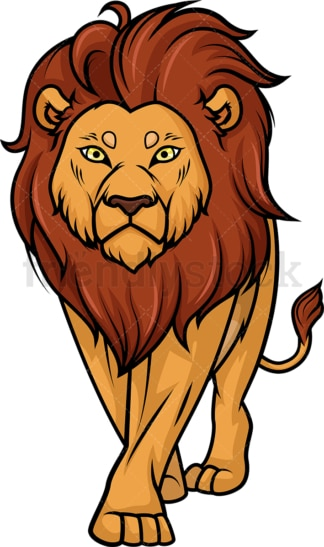 Lion walking. PNG - JPG and vector EPS (infinitely scalable).