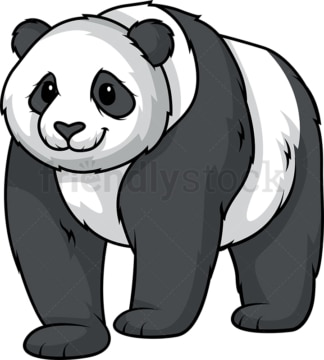 Panda bear walking. PNG - JPG and vector EPS (infinitely scalable).