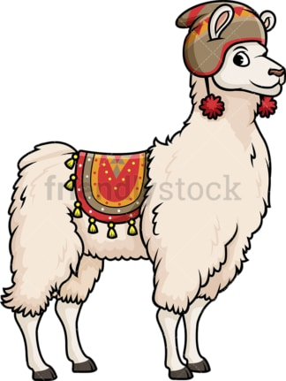 Peruvian llama. PNG - JPG and vector EPS (infinitely scalable).
