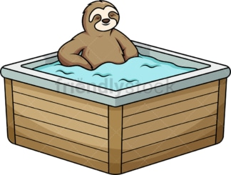 Sloth relaxing in bathtub. PNG - JPG and vector EPS (infinitely scalable).