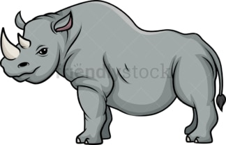 Wild rhinoceros. PNG - JPG and vector EPS (infinitely scalable).