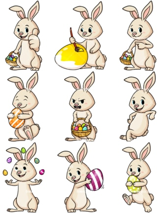 Cute easter bunny. PNG - JPG and vector EPS file formats (infinitely scalable).