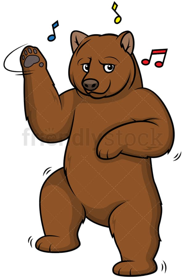 Brown bear dancing. PNG - JPG and vector EPS (infinitely scalable).