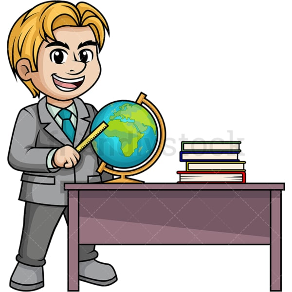 Male geography teacher. PNG - JPG and vector EPS (infinitely scalable).