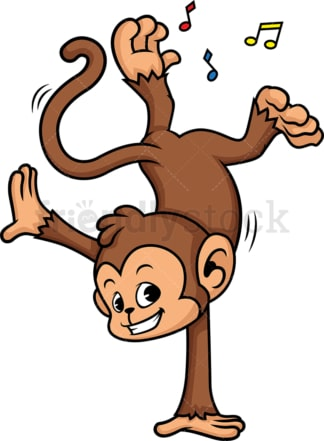Monkey dancing. PNG - JPG and vector EPS (infinitely scalable).
