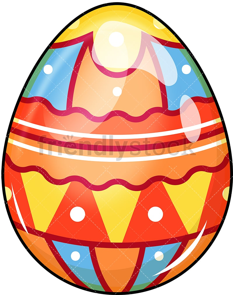 Colorful Easter Egg Cartoon Vector Clipart - FriendlyStock