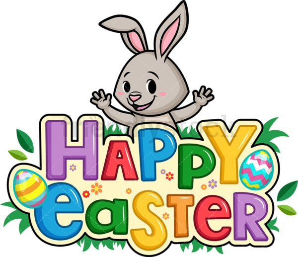 Happy easter. PNG - JPG and vector EPS (infinitely scalable).