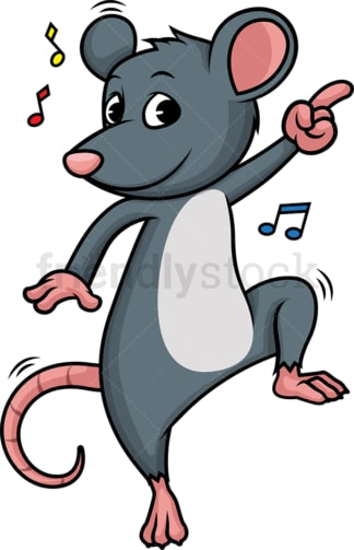 Mouse dancing. PNG - JPG and vector EPS (infinitely scalable).