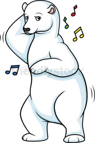 Polar bear dancing. PNG - JPG and vector EPS (infinitely scalable).