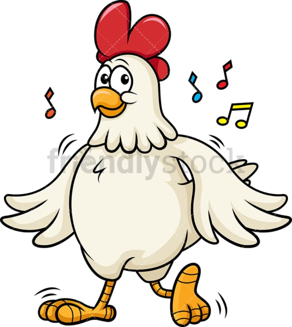 Chicken dancing. PNG - JPG and vector EPS (infinitely scalable).