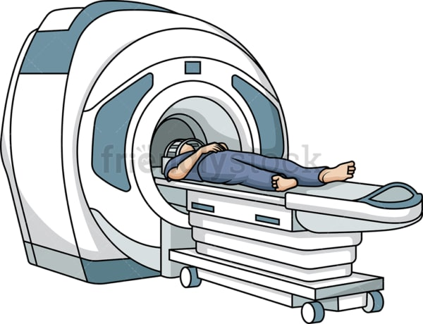 Man getting an mri scan. PNG - JPG and vector EPS (infinitely scalable).