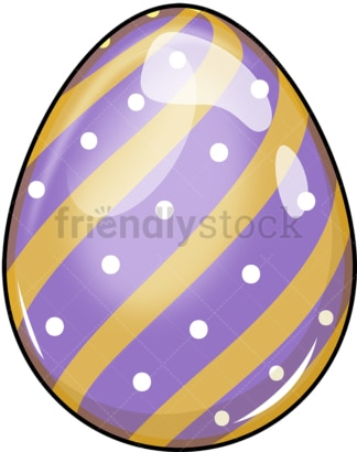 Purple easter egg. PNG - JPG and vector EPS (infinitely scalable). Image isolated on transparent background.