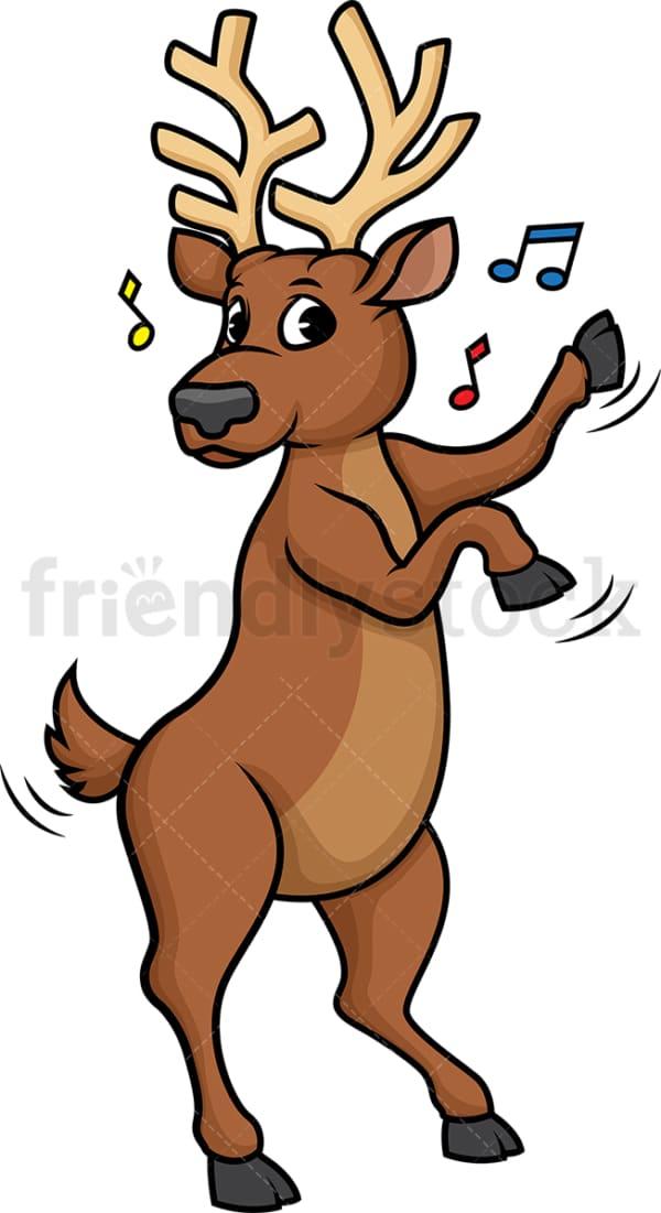 Reindeer dancing. PNG - JPG and vector EPS (infinitely scalable).