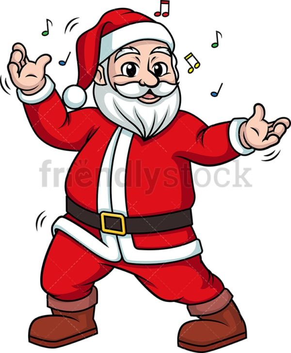 Santa claus dancing. PNG - JPG and vector EPS (infinitely scalable).