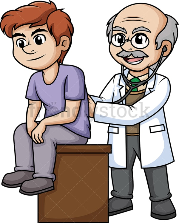 Doctor examining a patient. PNG - JPG and vector EPS (infinitely scalable).