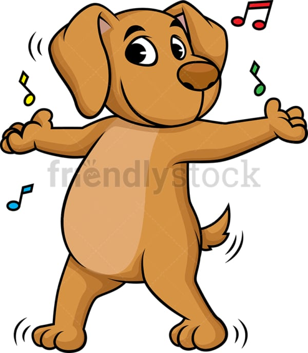 Dog dancing. PNG - JPG and vector EPS (infinitely scalable).