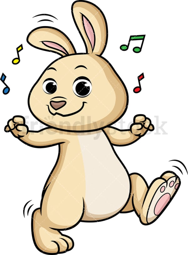 Rabbit dancing. PNG - JPG and vector EPS (infinitely scalable).