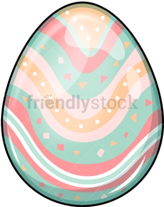 Painted easter egg. PNG - JPG and vector EPS (infinitely scalable). Image isolated on transparent background.