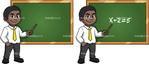 African american male math teacher. PNG - JPG and vector EPS (infinitely scalable).