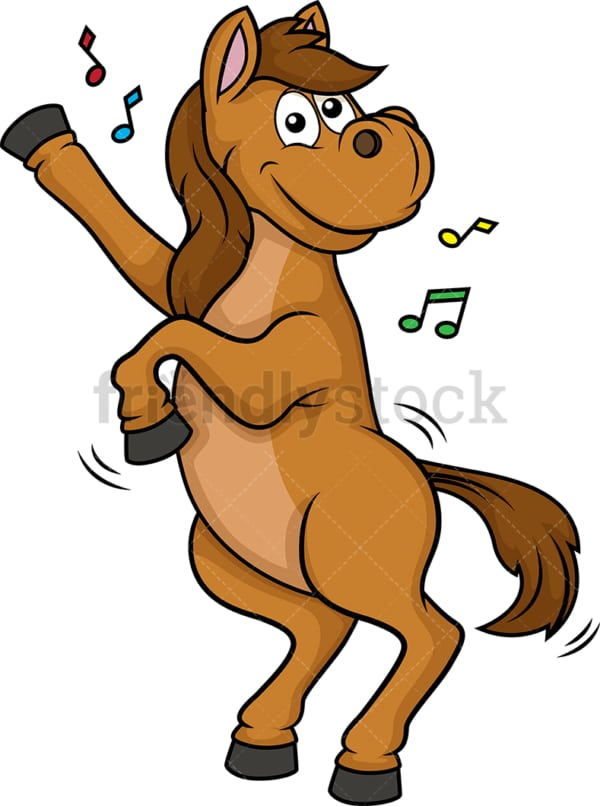 Horse dancing. PNG - JPG and vector EPS (infinitely scalable).