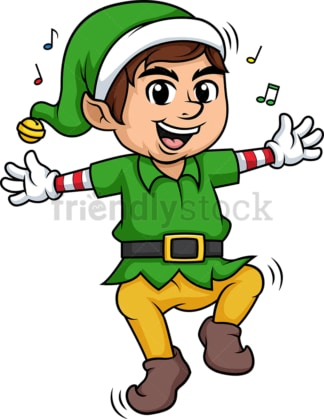 Elf dancing. PNG - JPG and vector EPS (infinitely scalable).