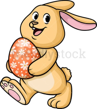 Happy easter bunny. PNG - JPG and vector EPS (infinitely scalable). Image isolated on transparent background.