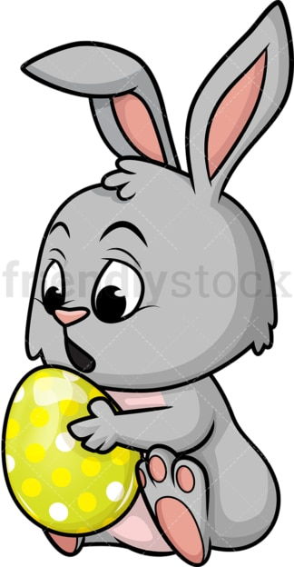 Cute easter bunny. PNG - JPG and vector EPS (infinitely scalable). Image isolated on transparent background.