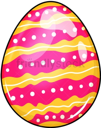 Decorated easter egg. PNG - JPG and vector EPS (infinitely scalable). Image isolated on transparent background.