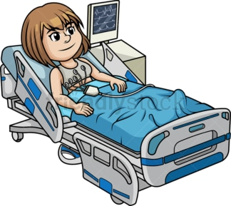 Woman undergoing an electrocardiogram. PNG - JPG and vector EPS (infinitely scalable).