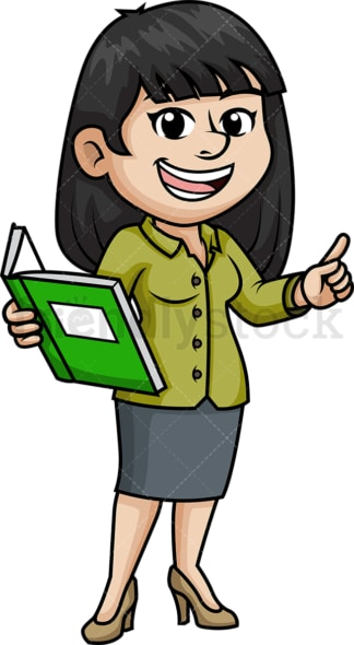 Female asian teacher. PNG - JPG and vector EPS (infinitely scalable).