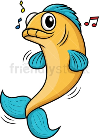 Fish dancing. PNG - JPG and vector EPS (infinitely scalable).