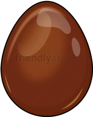 Chocolate egg. PNG - JPG and vector EPS (infinitely scalable). Image isolated on transparent background.