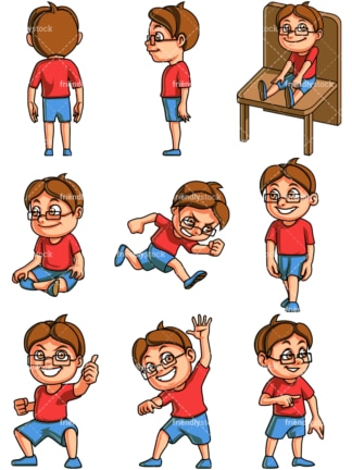 Little boy. PNG - JPG and vector EPS file formats (infinitely scalable).