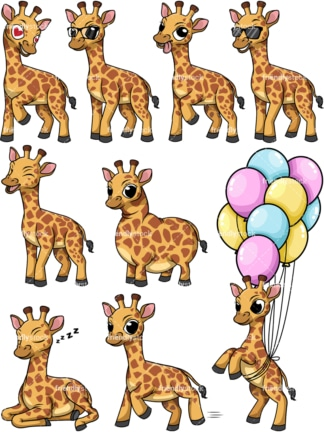 Wild giraffe. PNG - JPG and vector EPS file formats (infinitely scalable).