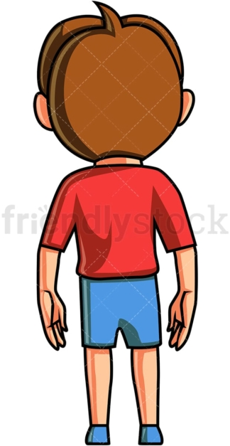 Little boy back view. PNG - JPG and vector EPS (infinitely scalable).