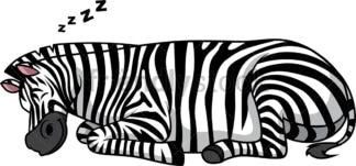 Zebra sleeping. PNG - JPG and vector EPS (infinitely scalable).