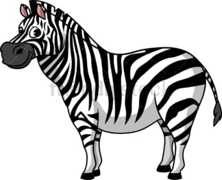 Fat zebra. PNG - JPG and vector EPS (infinitely scalable).