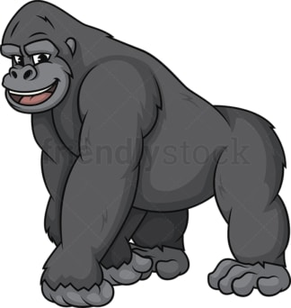 Happy gorilla. PNG - JPG and vector EPS (infinitely scalable).