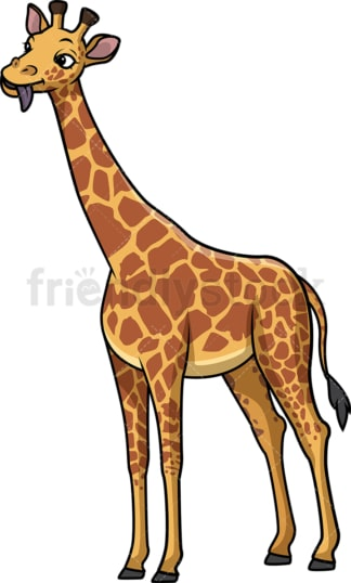 Funny giraffe. PNG - JPG and vector EPS (infinitely scalable).