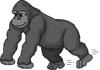 Gorilla running. PNG - JPG and vector EPS (infinitely scalable).